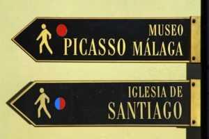 Указатели к музею Пабло Пикассо в Малаге