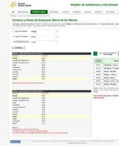 Расписание автобусов от Малаги до Ронды в Grupo Paco Pepe