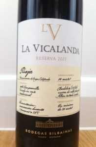 Bilbainas la Vicalanda Reserva. DOCa. Rioja (100% Темпранийо)