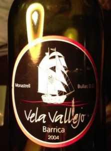 «Vela Vallejo», Monastrell