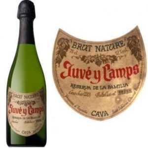 Juve y Camps Brut Reserva. D.O. Cava. (45% Макабео, 35% Парейяда, 20% Шарел-ло)